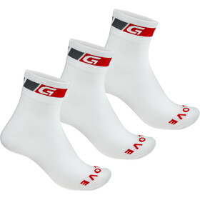 GripGrab Classic Regular Cut Cycling Socks 3-Pack white